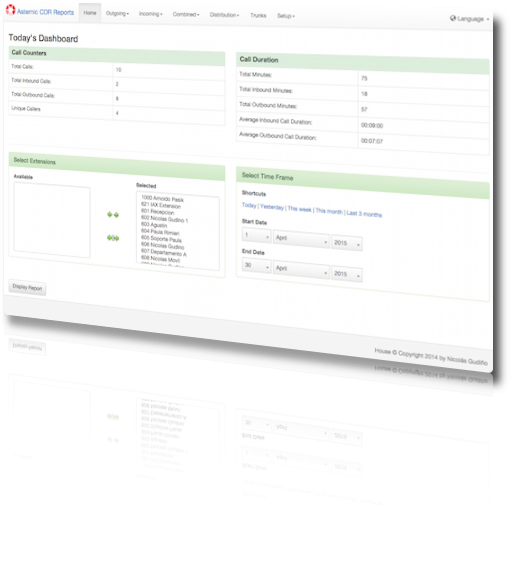 Asternic CDR Reports   Slick CDR reporting for Asterisk PBX